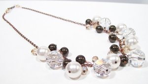 Devlyn Cluster Necklace - Antique Copper - Chunky Necklace