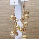 Golden Brown Chandelier Earrings - 14k Gold Filled