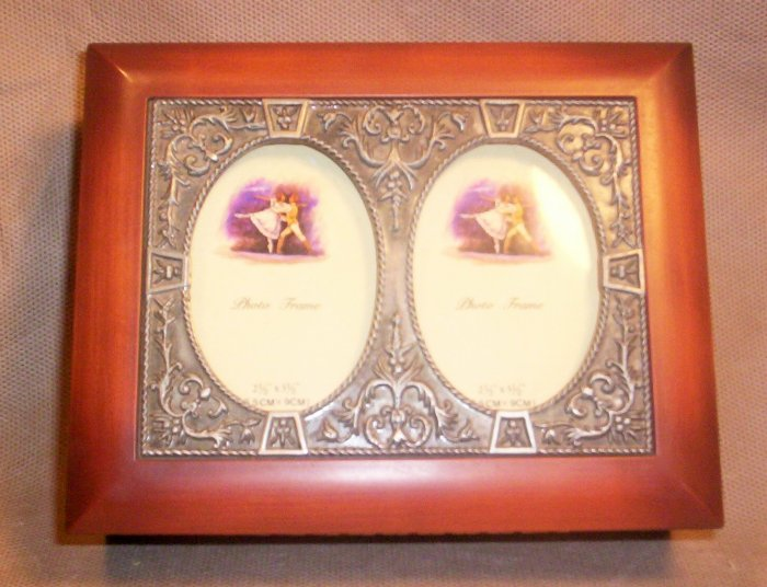 Beautiful Wood and Metal Picture Frame Jewelry Box,  Item # 04-0010010060008