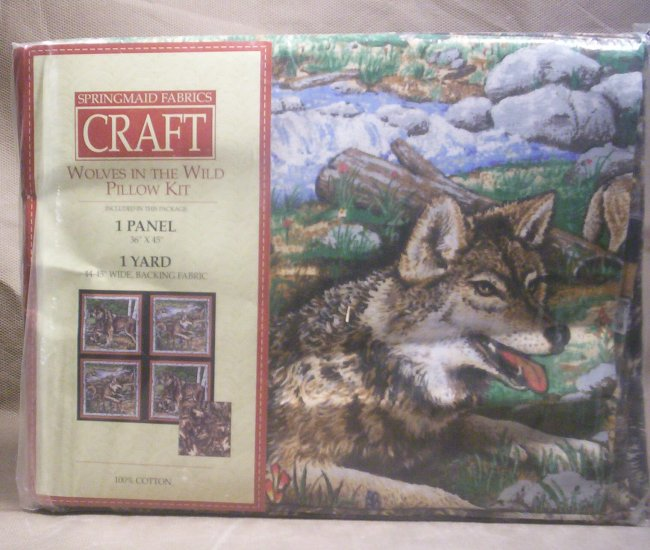 Wolves In the Wild Pillow Kit,  Item # 04-0010010060003