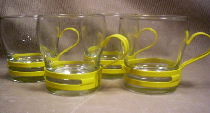 Set of 4, Retro Expresso Cups,  Item # 04-0010010060005