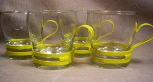 Set of 4, Retro Expresso Cups,  Item # 04-0010010060005