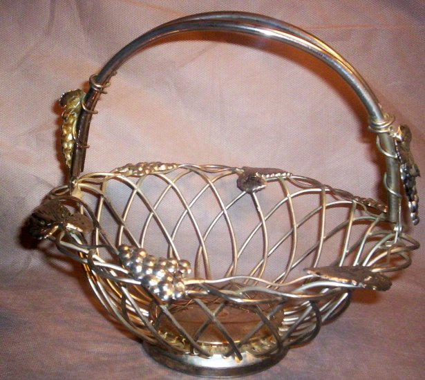 Godinger Silver Grape and Vine Wire Basket, Item # 04-0010010060009