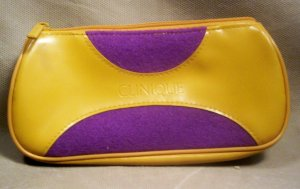 Clinque Purple and Gold Make-up Case, Item # 07-001001060006