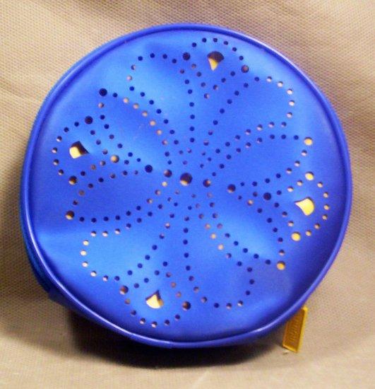*Clinque Blue and Gold Make-up Bag, Item # 07-001001060005