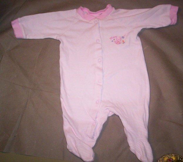Baby Girl's footed sleeper