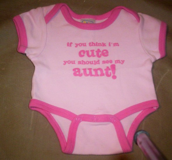 "Baby Connection Preemie Onesie-""If you think I'm cute..."""