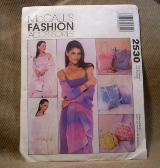 McCall's Fashion Accessories Purse and Stole Pattern #2530