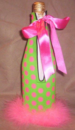 *Pretty in Pink Wine Bottle Cozy
