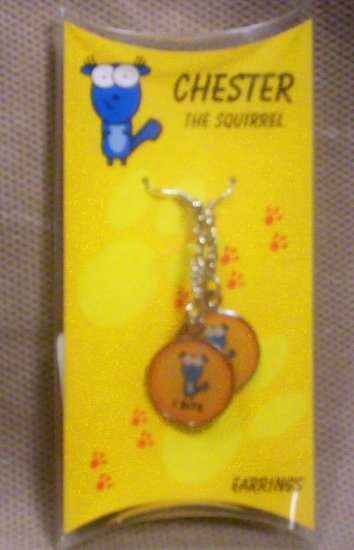 "Teens ""Chester, The Squirrel"" Dangle Earrings, Item # 08-001001060006"