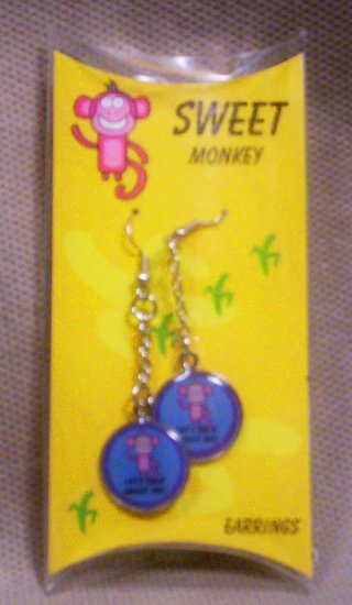 "Teens ""Sweet Monkey"" Dangle Earrings, Item # 08-001001060008"