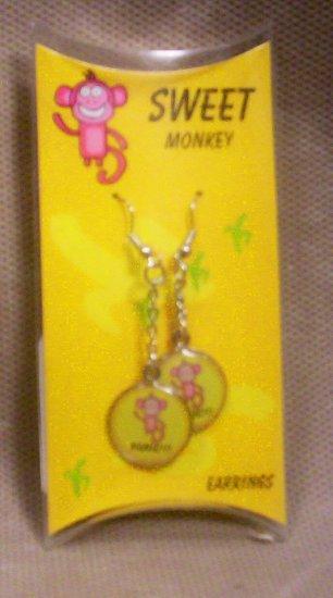"""Teens """"Sweet Monkey"""" Dangle Earrings, Item # 08-001001060009"""
