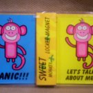 Set of 2 Locker Magnets, Sweet Monkey, Item #08-001001010011
