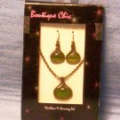 Boutique Chic Antique Finish Necklace & Earring Set, Item # 08-001001060017