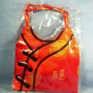 Beautiful Oriental Silk Screen Red/Blk Purse, Item # 07-001001060002