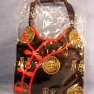 Beautiful Oriental Silk Screen Black/Red Purse, Item # 07-001001060001