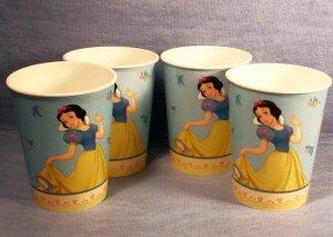 Set of 4, Disney's Snow White Plastic Drinking Cups, Item # 08-001004060018