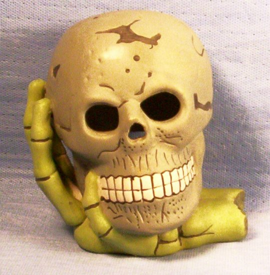 Halloween Skelton Head Candle Holder, Item # 03-001014060003