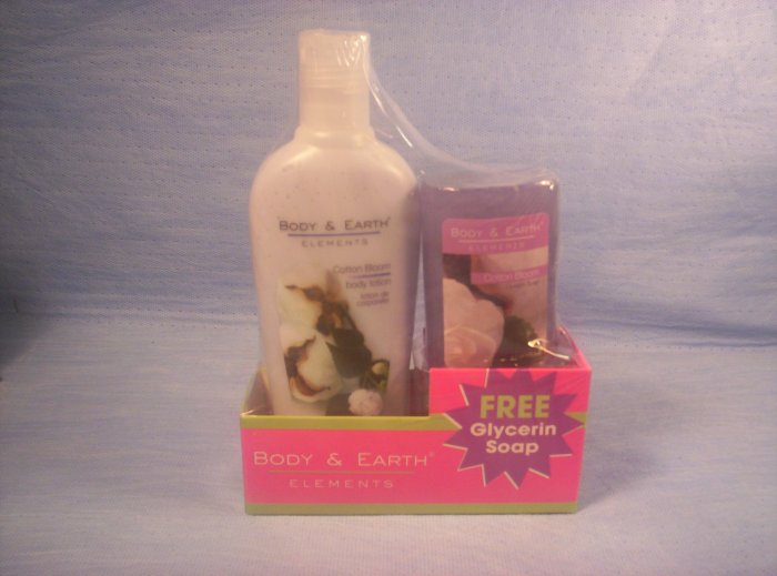 Body Elements, Cotton Bloom Body Lotion & Glycerin Soap, Item # 05-001014060027