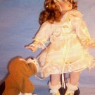 "15"" Porcelain Doll with Puppy Collectible Doll, Item #08-001014060020"