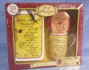 Daily Blessings Gift Set, Footprints In The Sand, Item # 04-001015060020