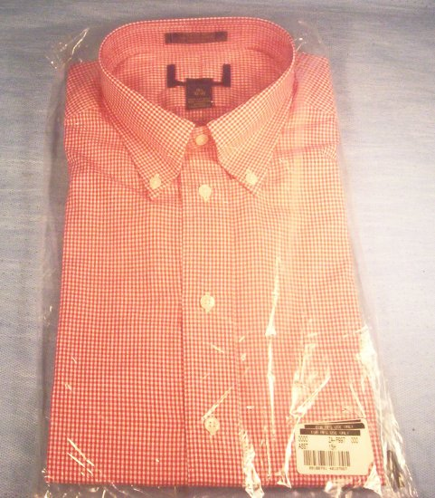 Men's LS Red and White Button Front Shirt, Item # 10-001016060012