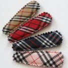 16pcs of 50mm snap clip covers in red plaid