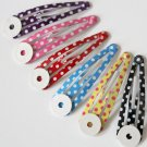 24pcs 50mm Polka Dot Snap Clip with Pad Set in Red, Pink, Purple and Black