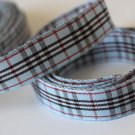 5 Yards of 5/8 inch (15mm) Blue and Black Tartan Plaid Ribbon