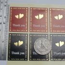 36pc Thank You Sticker in Red and Black with Embossing Design..2 Sheets in Pack