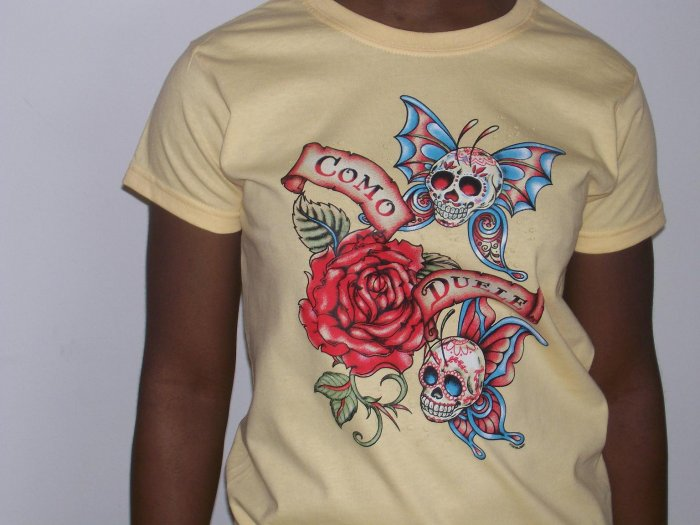 """""""como duele"""" tattoo tshirt for ladies"""