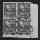 #807 Plate Block of Thomas Jefferson Mint 1938