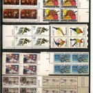 Lot of Eight US Stamp 13 cents blocks MNH - w/ gift