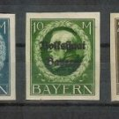 153-155 Set of 3  King Ludwig III German States Stamps