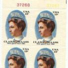 US Stamp Block  CLARA MAASS.13 MNH