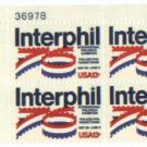 US Stamp Block INTEPHIL  .13 MNH