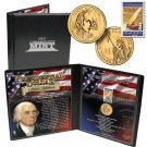 24K GOLD PLATED JAMES MADISON PRESIDENTIAL DOLLAR NEW