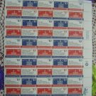 US MINT SHEET 1543-46 Bicentennial Era Stamps