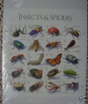 #3351 INSECTS AND SPIDERS MNH STAMP SHEET