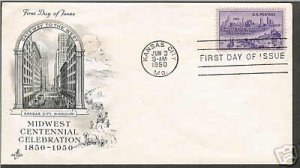 FDC - #994 1950 Midwest Centennary cover