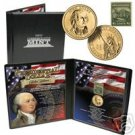 24K Gold Plated Presidential Coin & Stamp Set - J Adams