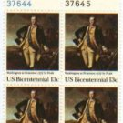 US Stamp Block  US BICENTENNIAL WASHINGTON .13 MNH