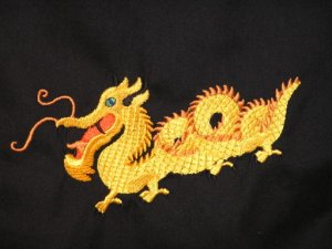 Chinese Dragon Embroidered Purse