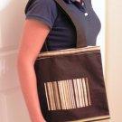 Brown Striped Tote Bag