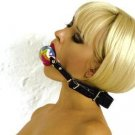ADJUSTABLE LEATHER BALL GAG