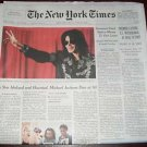 NEW YORK TIMES Michael Jackson Died Death RIP Newspaper NEVER READ 06/26/09