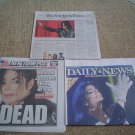 NEW YORK TIMES - DAILY NEWS - NY POST - Michael Jackson Died RIP Newspapers 06/26/09
