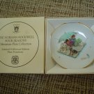 NORMAN ROCKWELL FOUR SEASONS MINIATURE PLATE COLLECTION-LMTD EDITION~FISHERMAN'S PARADISE #526-NIB!