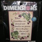 """OUR HOME - STAMPED CROSS-STITCH - 5""""x7"""" by DIMENSIONS!"""