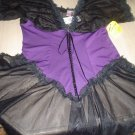 PLUS SIZE GOTHIC STYLE BUSTIER NIGHTY AND PANTY SET by TORRID-1X-CROSSDRESS-TRANSGENDER!